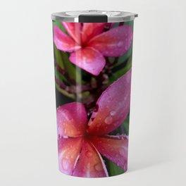 Plumeria Flower in the Rain Travel Mug