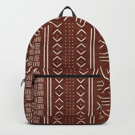 rust mud cloth Backpack