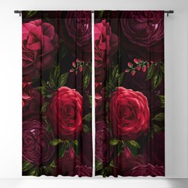 Vintage & Shabby Chic - Vintage & Shabby Chic - Mystical Night Roses Blackout Curtain