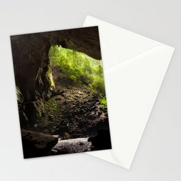 View from inside deer cave in gunung mulu national park looking outside Stationery Cards