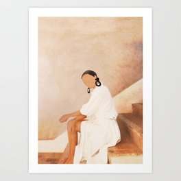 Lady in Waiting Art Print