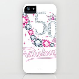 Womens 50 And & Fabulous 1969 50Th Birthday Gift Tee For Womens iPhone Case