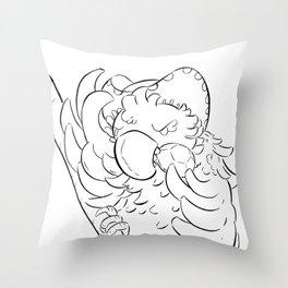 Pirate Parrot - ink Throw Pillow