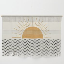 Sunrise Ocean -  Mid Century Modern Style Wall Hanging
