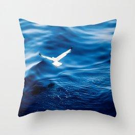 Blue Velvet Throw Pillow