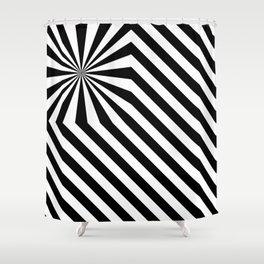 Stripes explosion - Black Shower Curtain