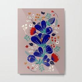 Folk Spring Flowers blooms - number1 Metal Print