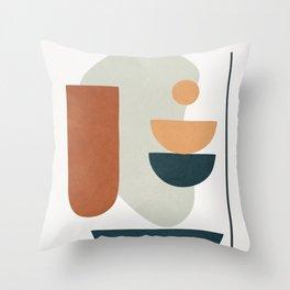 Minimal Shapes No.35 Throw Pillow