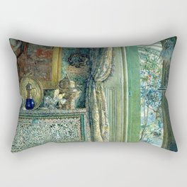 In the Blue Room, Drawing Room, Versailles by Anna Alma Tadema   Rectangular Pillow