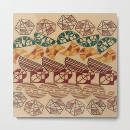 Facetnating Geometric Shapes Metal Print