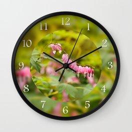 Lamprocapnos spectabilis dangle heart Wall Clock