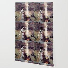 THE MAGIC CIRCLE - JOHN WILLIAM WATERHOUSE Wallpaper