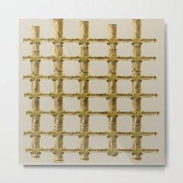 bamboo grid Metal Print