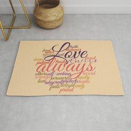 Christian Love Never Fails 1 Cor. 13:1-8 Rug
