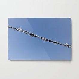 Barbed wire minimalistic Metal Print