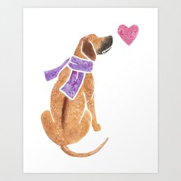 Watercolour Rhodesian Ridgeback Art Print
