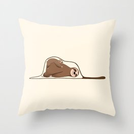 Sloth and Baby in a Snake Throw Pillow
