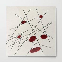 Abstract Forms II Metal Print