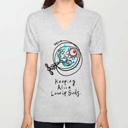 Keeping alive lonely souls Unisex V-Neck