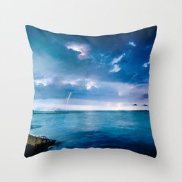 Storms Over Water Throw Pillow