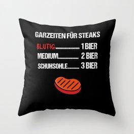 Garzeiten für Steaks Throw Pillow