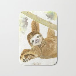Smiley Sloth Bath Mat