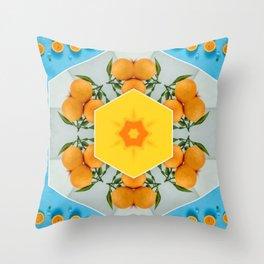 hello orange squeeze Throw Pillow