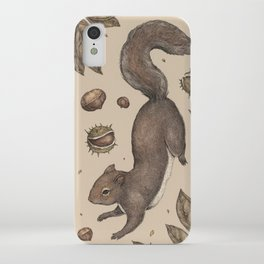 The Squirrel and Chestnuts iPhone Case