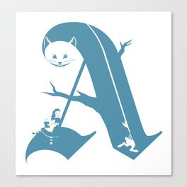 A is for Alice Canvas Print