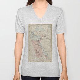 Vintage Map of The Egyptian Empire (1913) Unisex V-Neck