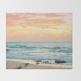 Honolulu Sunrise Throw Blanket