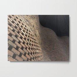 wavey bricks Metal Print
