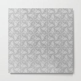 Parquet - white on grey Metal Print