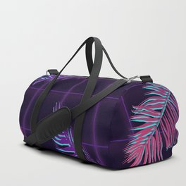 Synthwave Palm Leaves Duffle Bag
