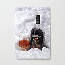 Ice Cold Captain Morgan Rum Metal Print