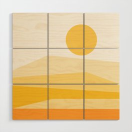 Abstract Landscape 09 Yellow Wood Wall Art
