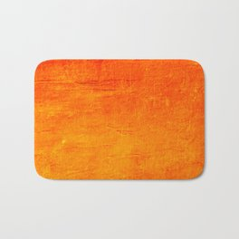 Orange Sunset Textured Acrylic Painting Badematte