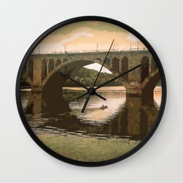 Georgetown Bridge Washington DC USA Wall Clock