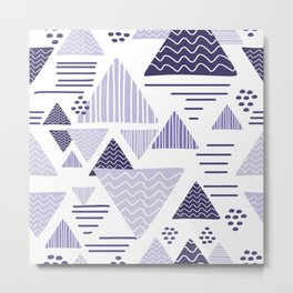 triangle geometric purple Metal Print