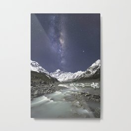 Starry Nights in Mt Cook, New Zealand Metal Print