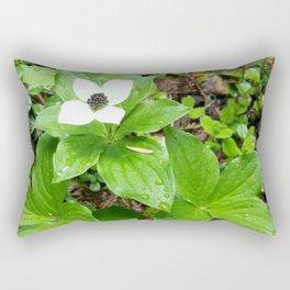 Canadian bunchberry Rectangular Pillow