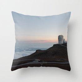 Sunset over the Haleakala summit, Maui Throw Pillow