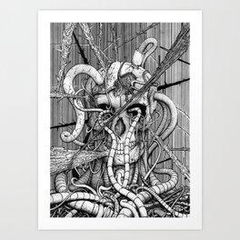de hypterion I - The guardian - skull Art Print
