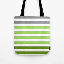 Stripes Gradient - Green Tote Bag