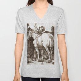 """Albrecht Dürer """"The Large Horse"""" Unisex V-Neck"""