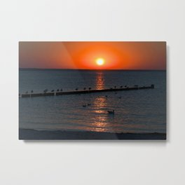 Holy sunset on the Baltic Sea Metal Print