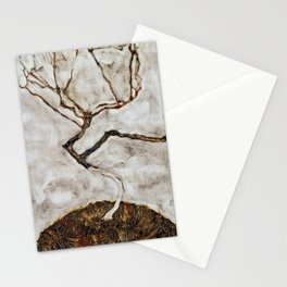 Egon Schiele - Small Tree In Late Autumn Stationery Cards