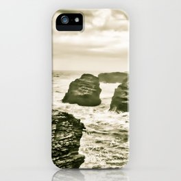 The beach of the cathedrals iPhone Case