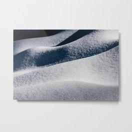 Calm - Winter Snow Drifts - 73/365 Metal Print