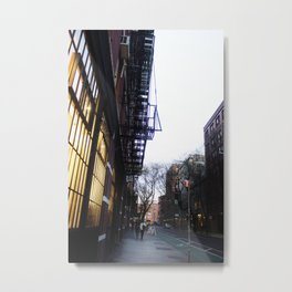 "Evenings at the ""Friends"" Building Metal Print"